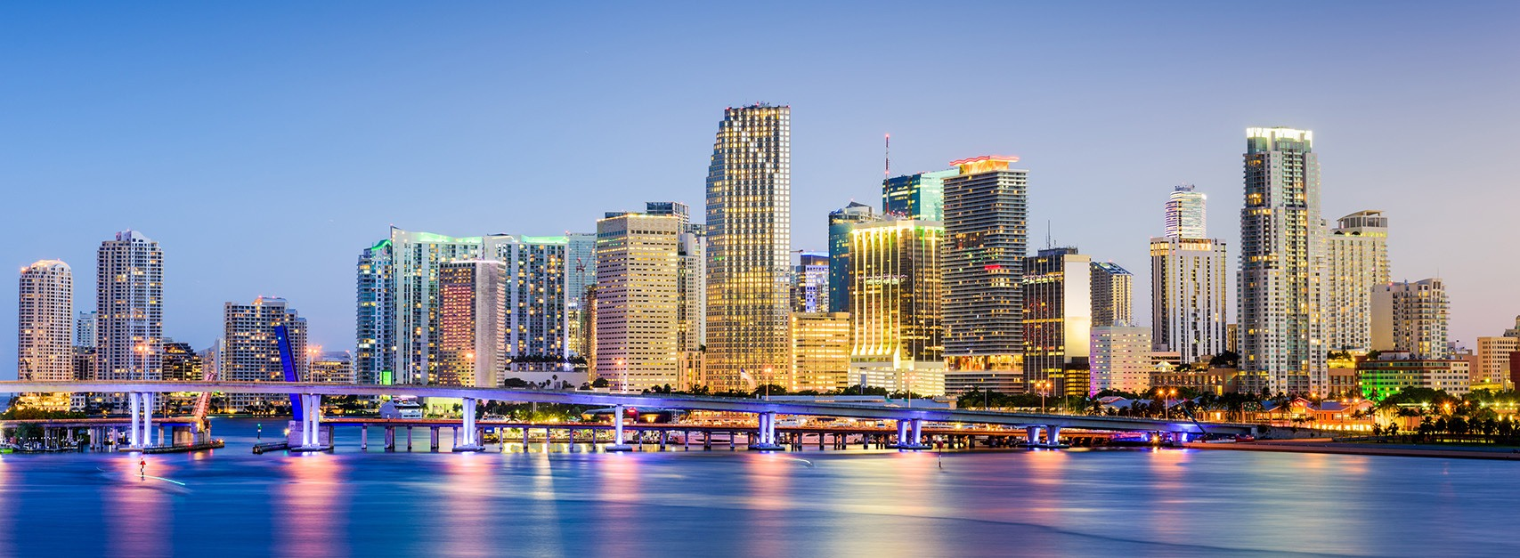 Miami Skyline and Oceanfront